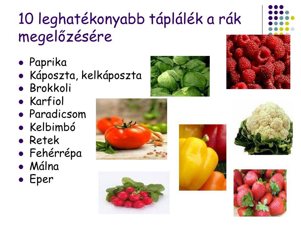 10 leghatékonyabb táplálék a rák megelőzésére