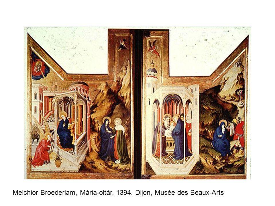 Melchior Broederlam, Mária-oltár, 1394. Dijon, Musée des Beaux-Arts