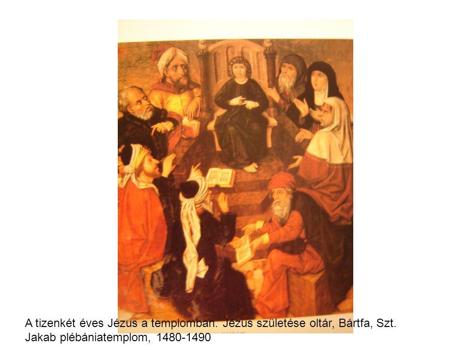 A tizenkét éves Jézus a templomban. Jézus születése oltár, Bártfa, Szt