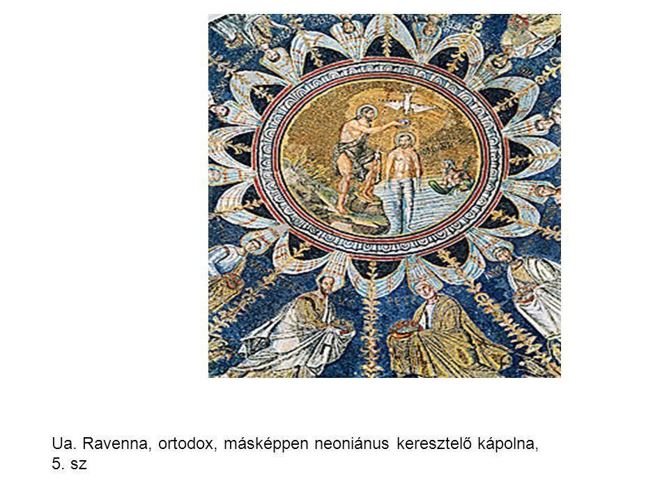 Ua. Ravenna, ortodox, másképpen neoniánus keresztelő kápolna, 5. sz