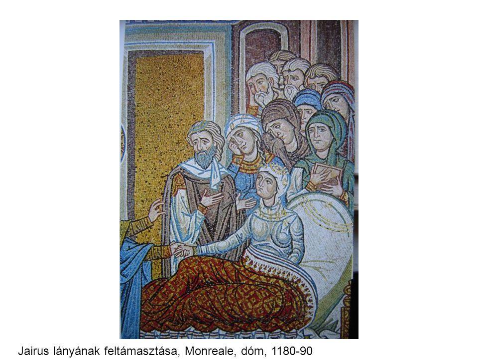 Jairus lányának feltámasztása, Monreale, dóm, 1180-90