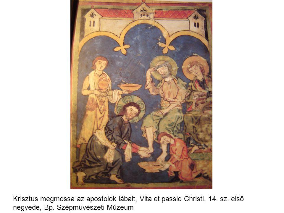 Krisztus megmossa az apostolok lábait, Vita et passio Christi, 14. sz