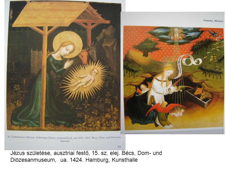 Jézus születése, ausztriai festő, 15. sz. elej
