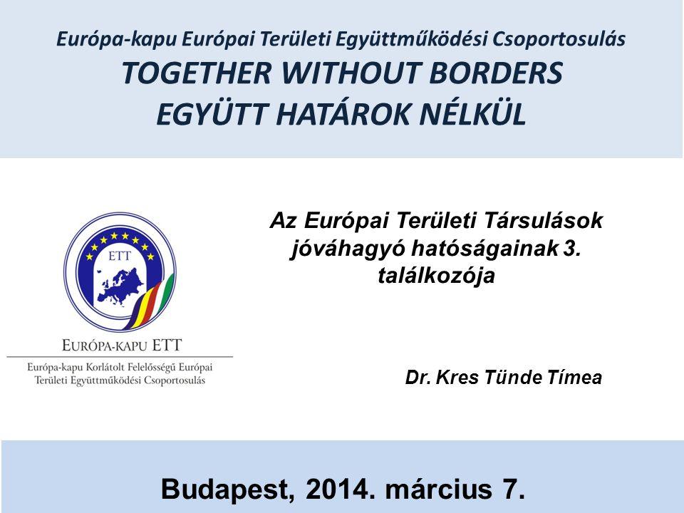 Az Európai Területi Társulások jóváhagyó hatóságainak 3. találkozója