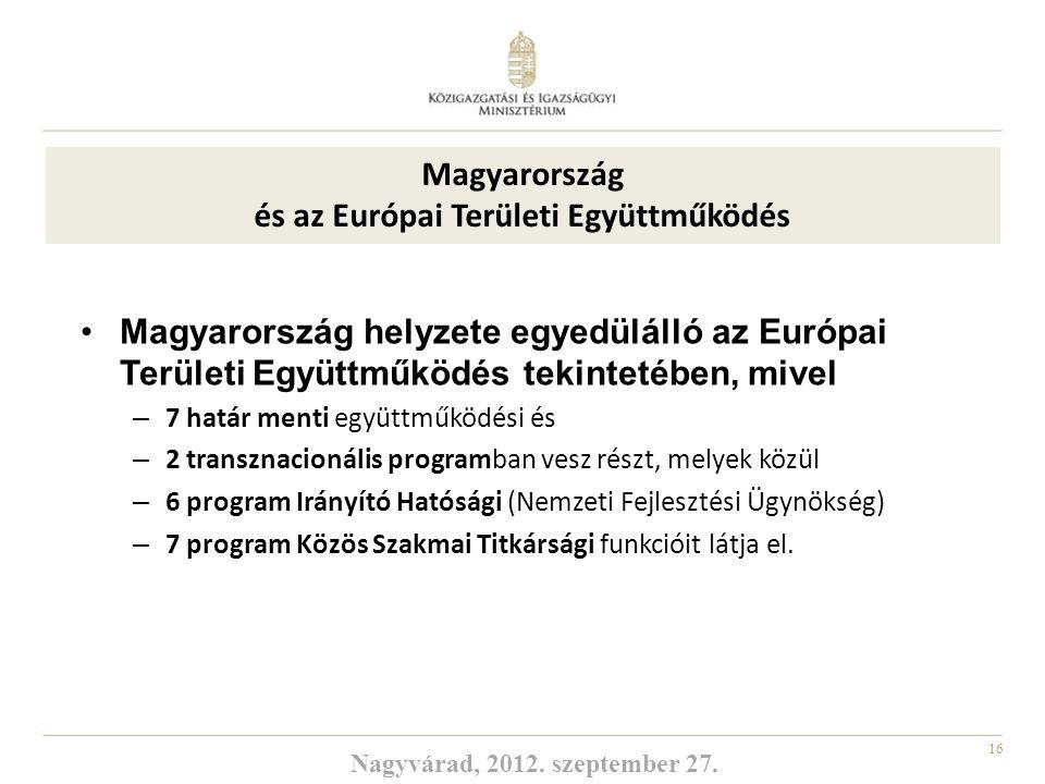 Magyarország és az Európai Területi Együttműködés