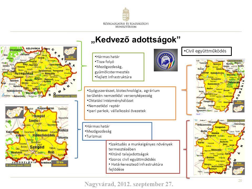 """""""Kedvező adottságok Nagyvárad, 2012. szeptember 27."""