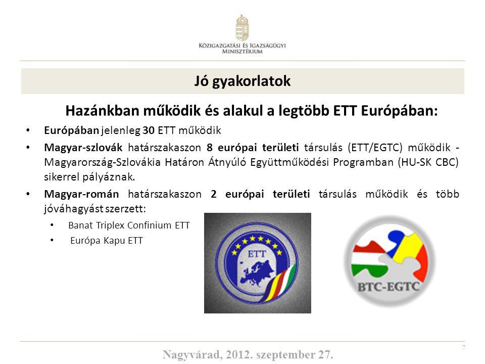 Hazánkban működik és alakul a legtöbb ETT Európában: