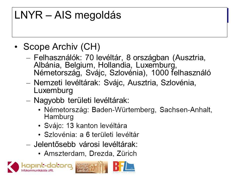 LNYR – AIS megoldás Scope Archiv (CH)