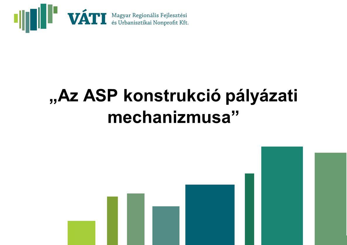 """""""Az ASP konstrukció pályázati mechanizmusa"""