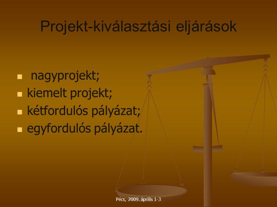 Projekt-kiválasztási eljárások