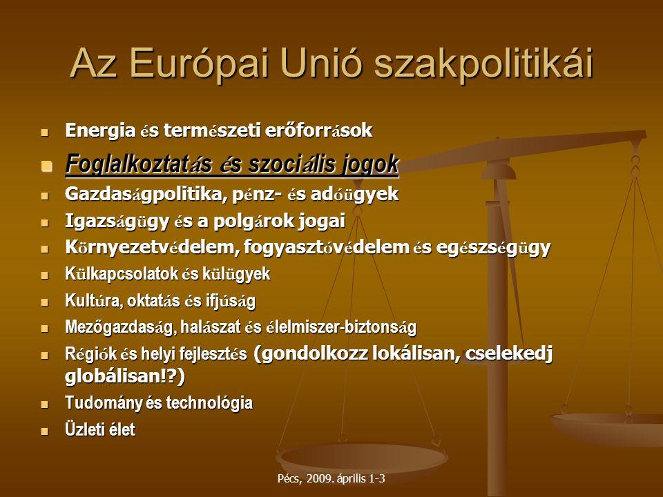 Az Európai Unió szakpolitikái