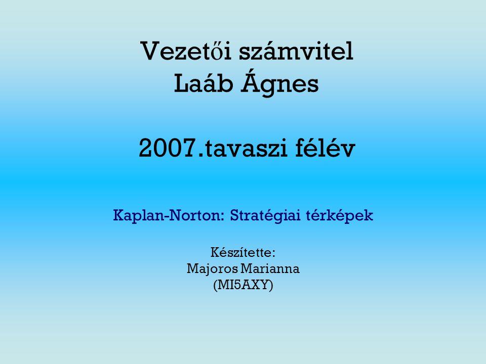 Vezetői számvitel Laáb Ágnes 2007.tavaszi félév