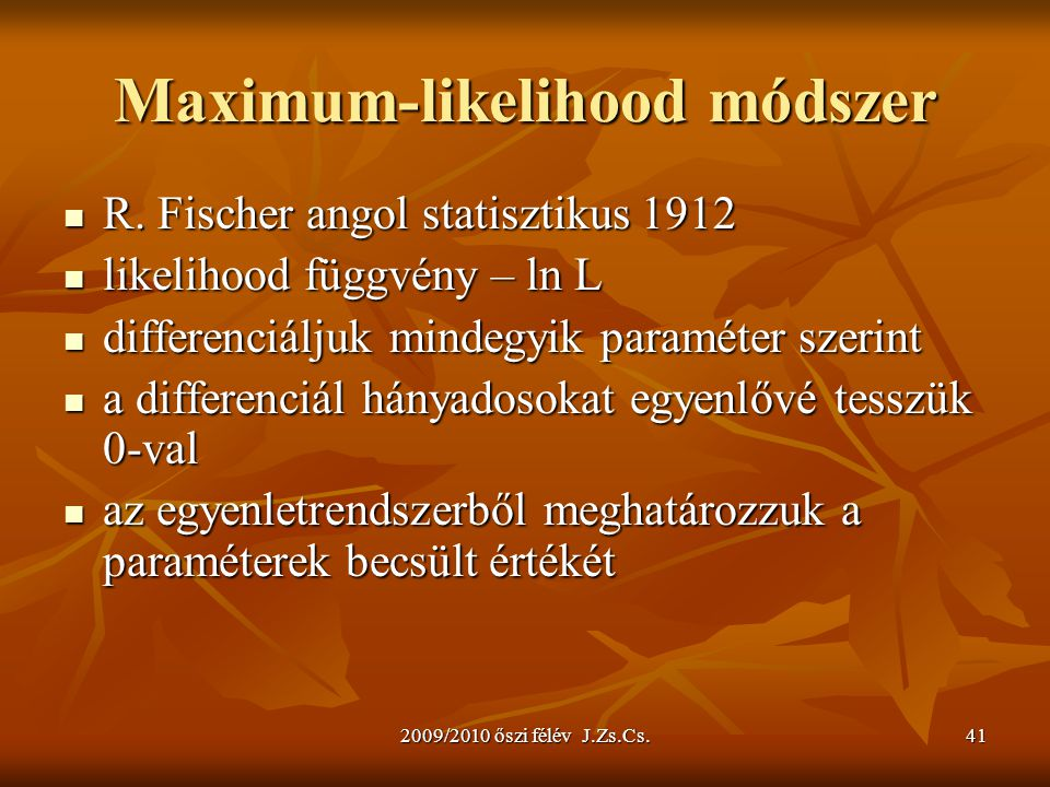 Maximum-likelihood módszer