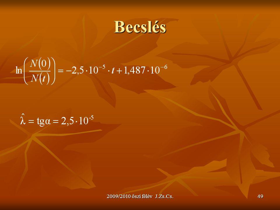 Becslés 2009/2010 őszi félév J.Zs.Cs.