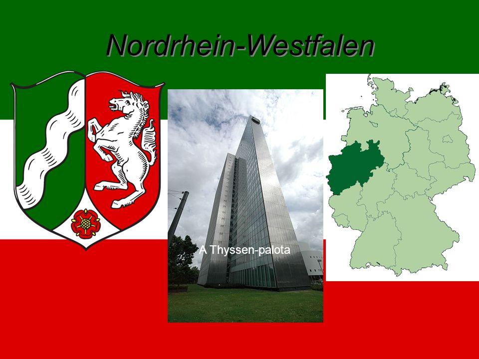 Nordrhein-Westfalen Nordrhein-Westfalen 1949 –ben csatlakozott a szövetséghez. 34 084 km² -en terül el. 18,075 élnek itt. Fővárosa Düsseldorf.