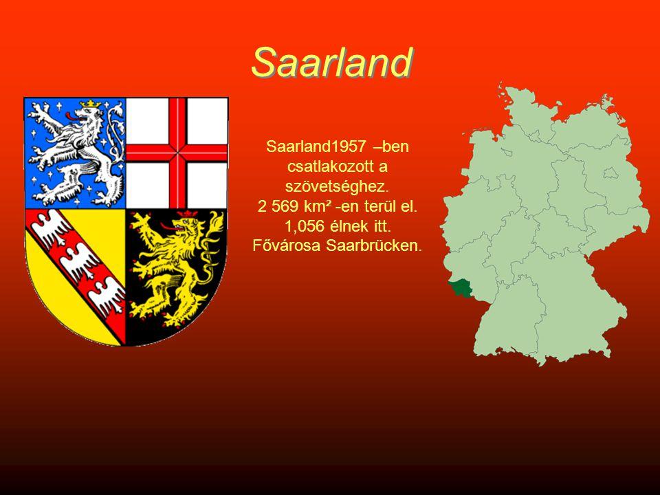 Saarland Saarland1957 –ben csatlakozott a szövetséghez.