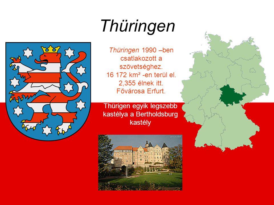 Thürigen egyik legszebb kastélya a Bertholdsburg kastély