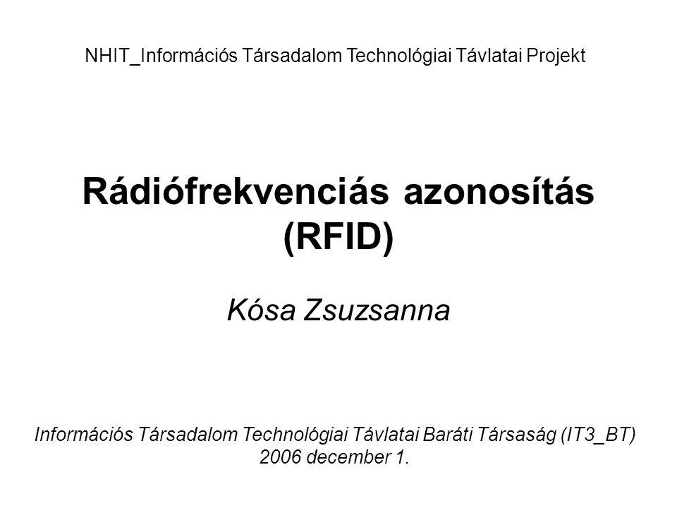 Rádiófrekvenciás azonosítás (RFID)