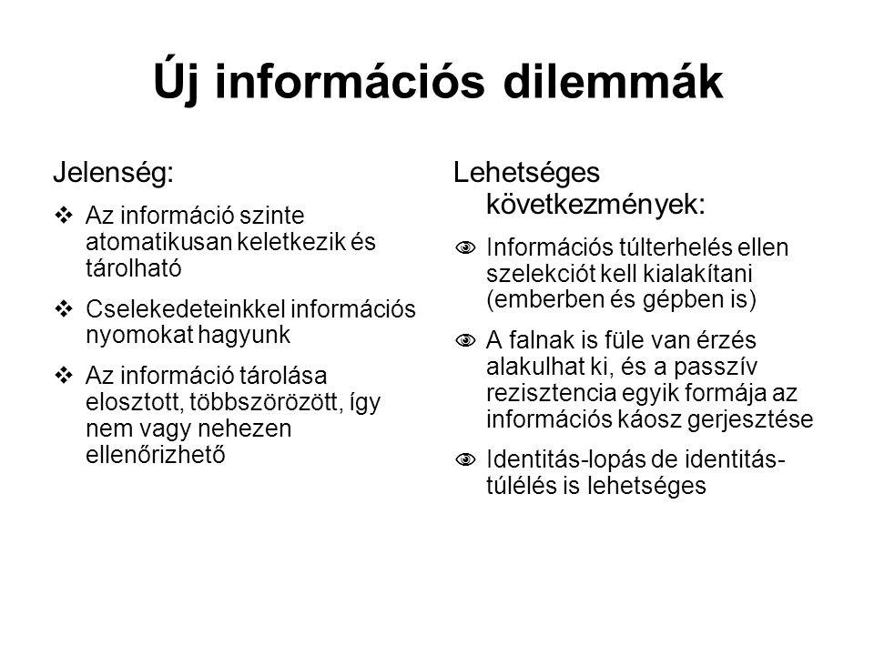Új információs dilemmák
