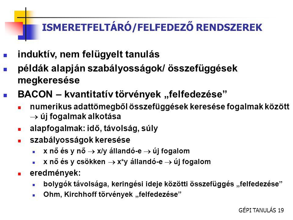 ISMERETFELTÁRÓ/FELFEDEZŐ RENDSZEREK