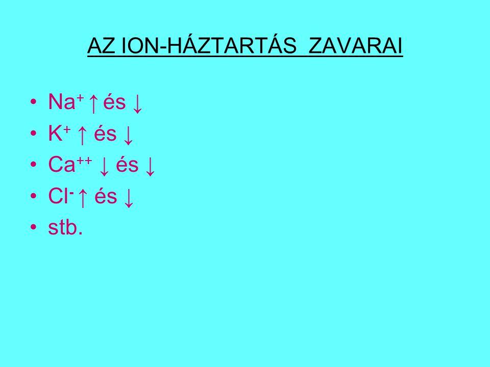 AZ ION-HÁZTARTÁS ZAVARAI