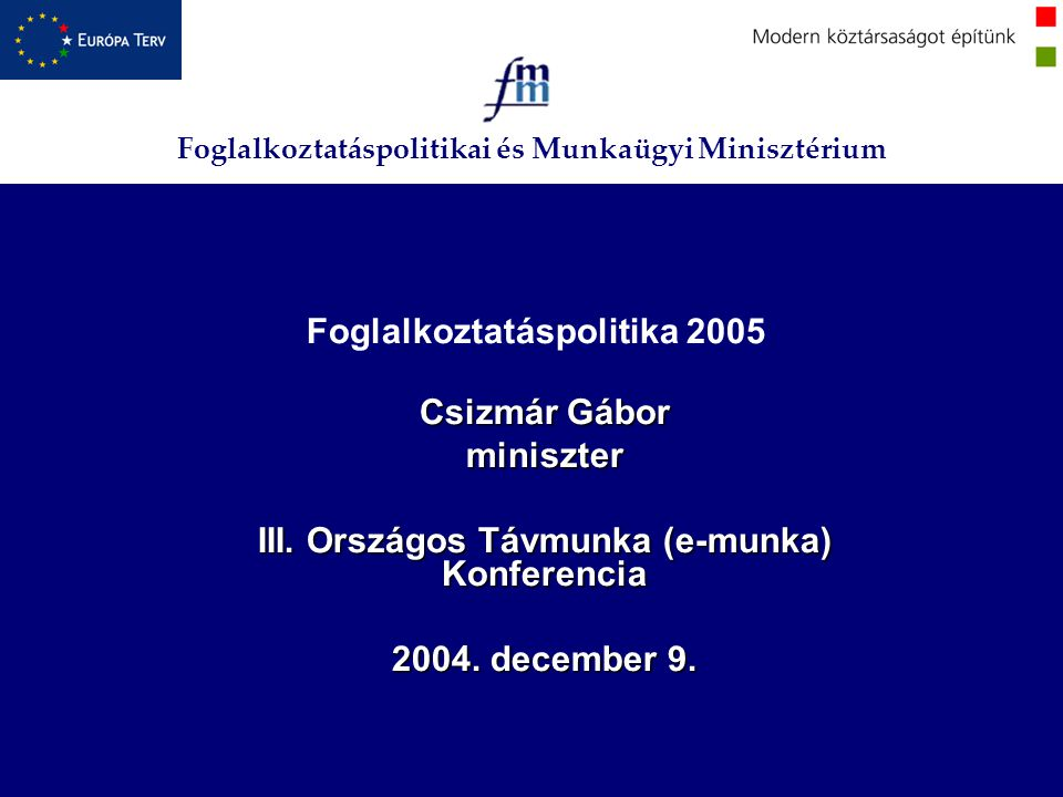 Foglalkoztatáspolitika 2005