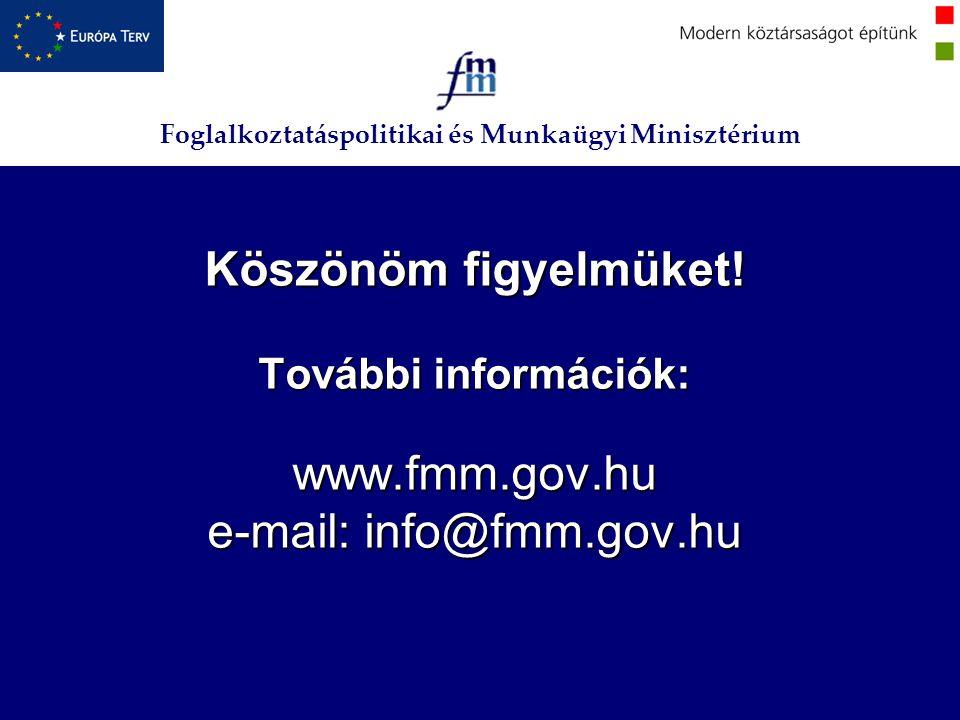 Köszönöm figyelmüket. További információk: www. fmm. gov
