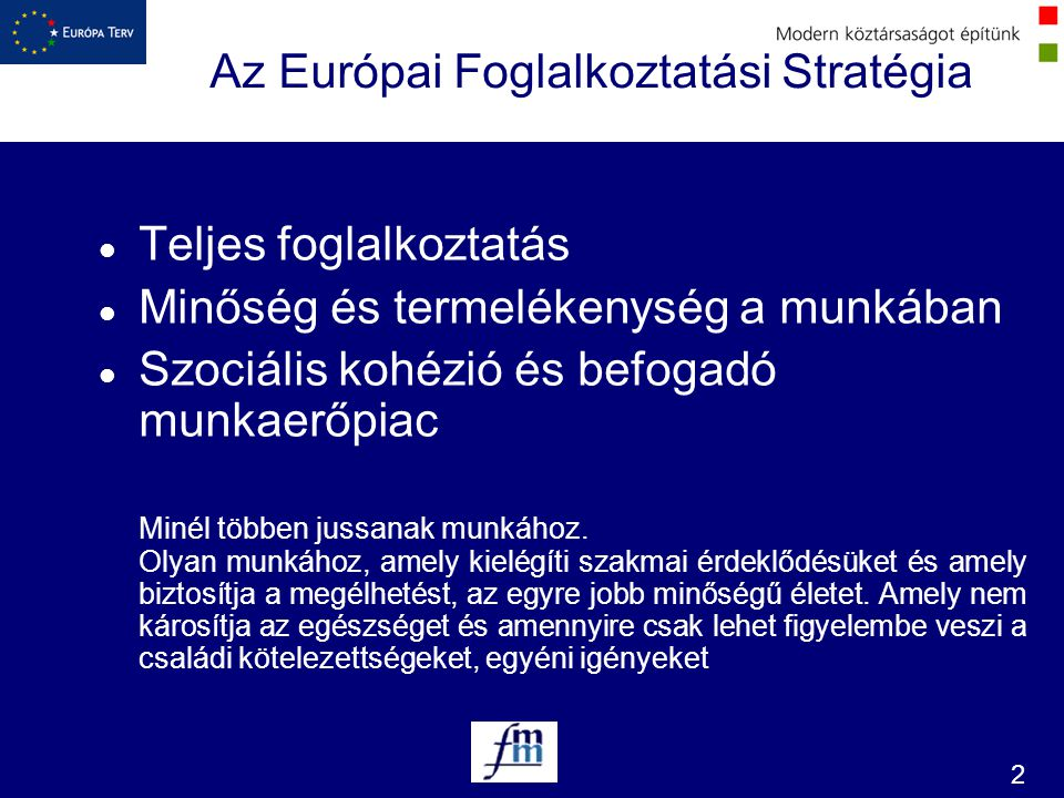 Az Európai Foglalkoztatási Stratégia