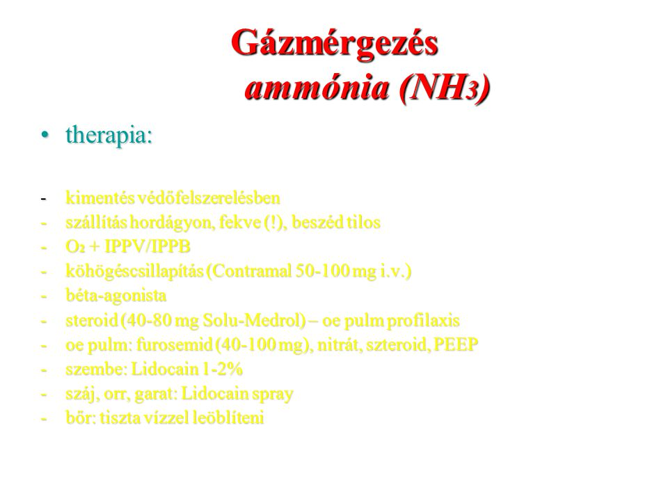 Gázmérgezés ammónia (NH3)