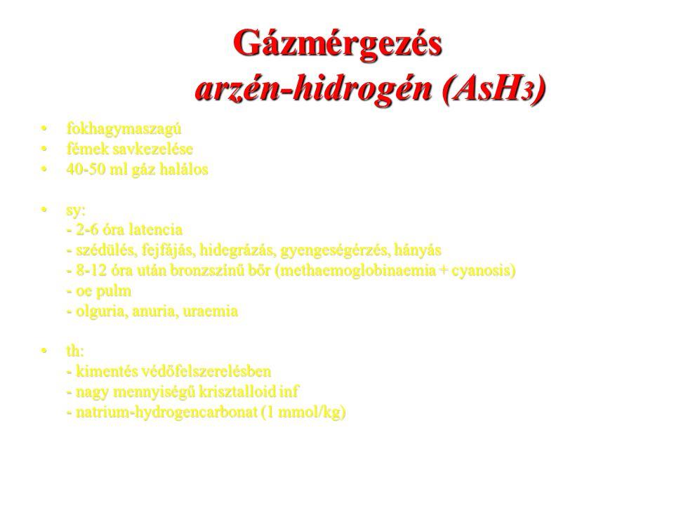 Gázmérgezés arzén-hidrogén (AsH3)