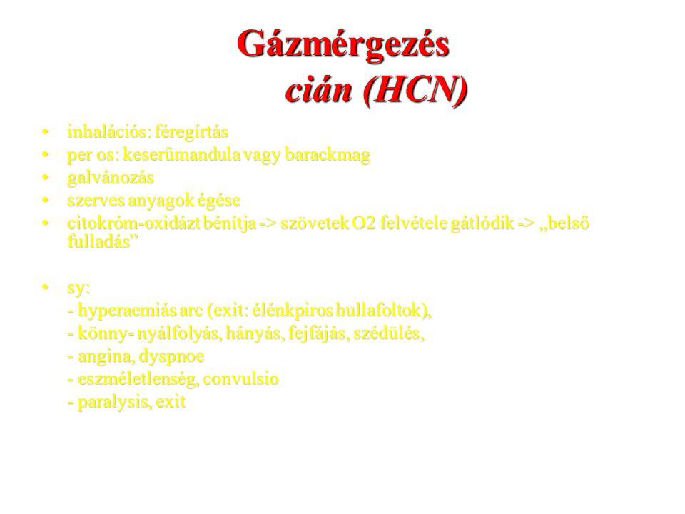 Gázmérgezés cián (HCN)