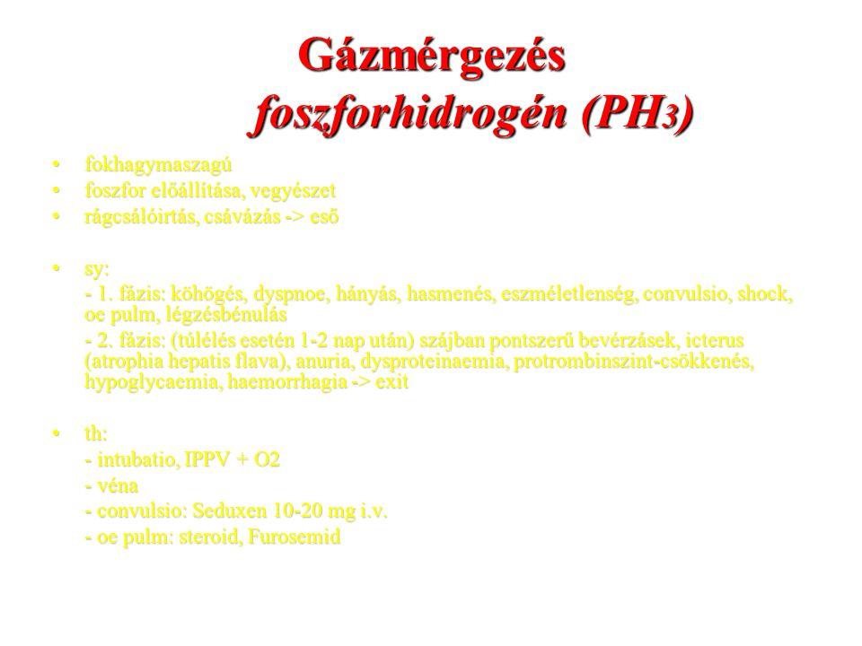 Gázmérgezés foszforhidrogén (PH3)