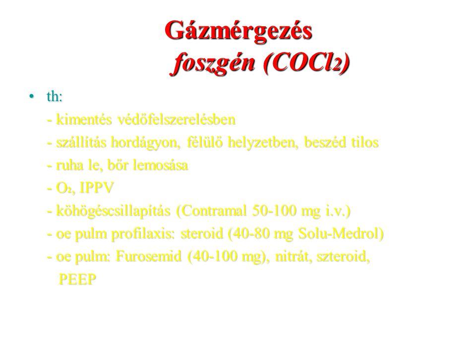 Gázmérgezés foszgén (COCl2)