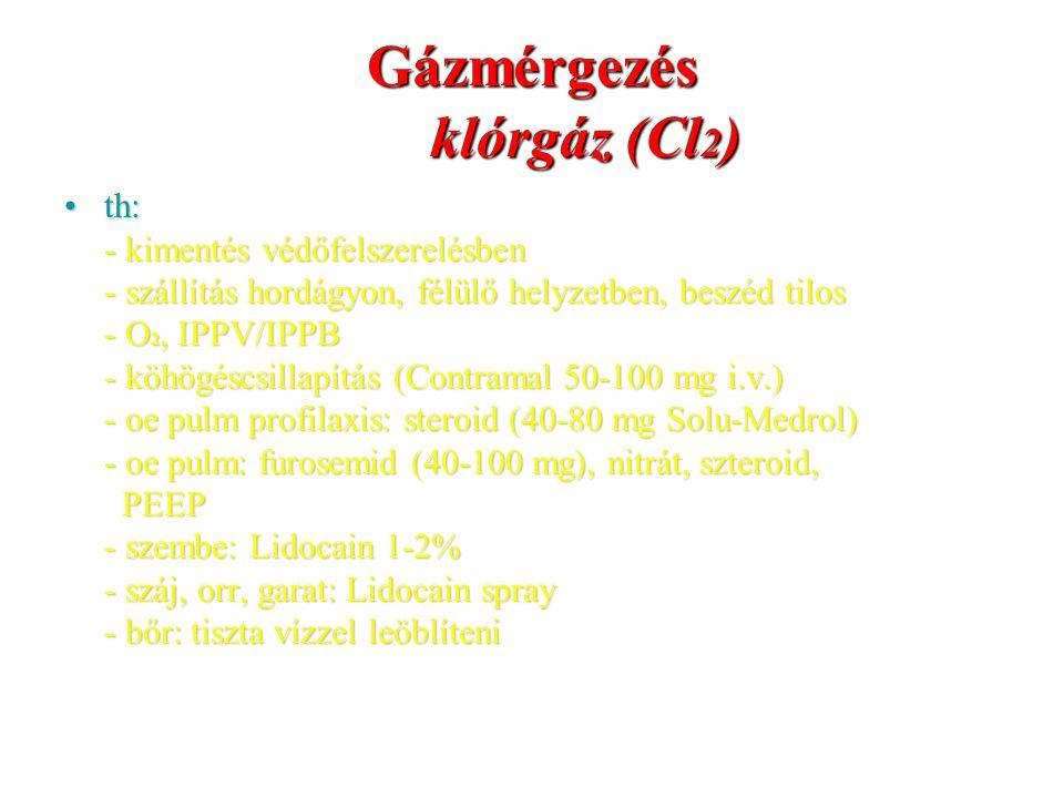 Gázmérgezés klórgáz (Cl2)