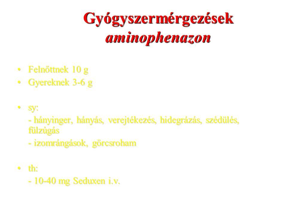 Gyógyszermérgezések aminophenazon