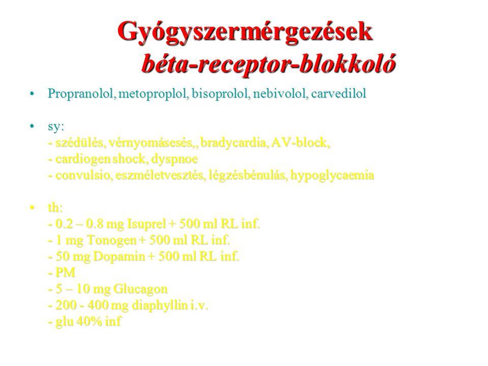 Gyógyszermérgezések béta-receptor-blokkoló