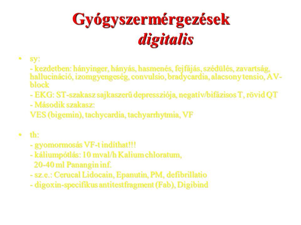 Gyógyszermérgezések digitalis