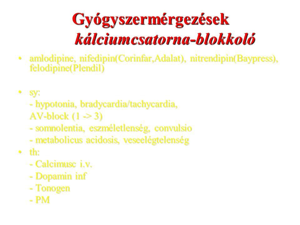 Gyógyszermérgezések kálciumcsatorna-blokkoló