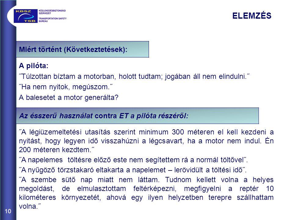 ELEMZÉS Miért történt (Következtetések):