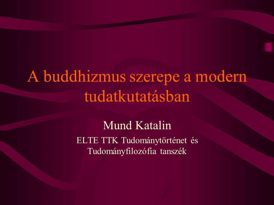 A buddhizmus szerepe a modern tudatkutatásban