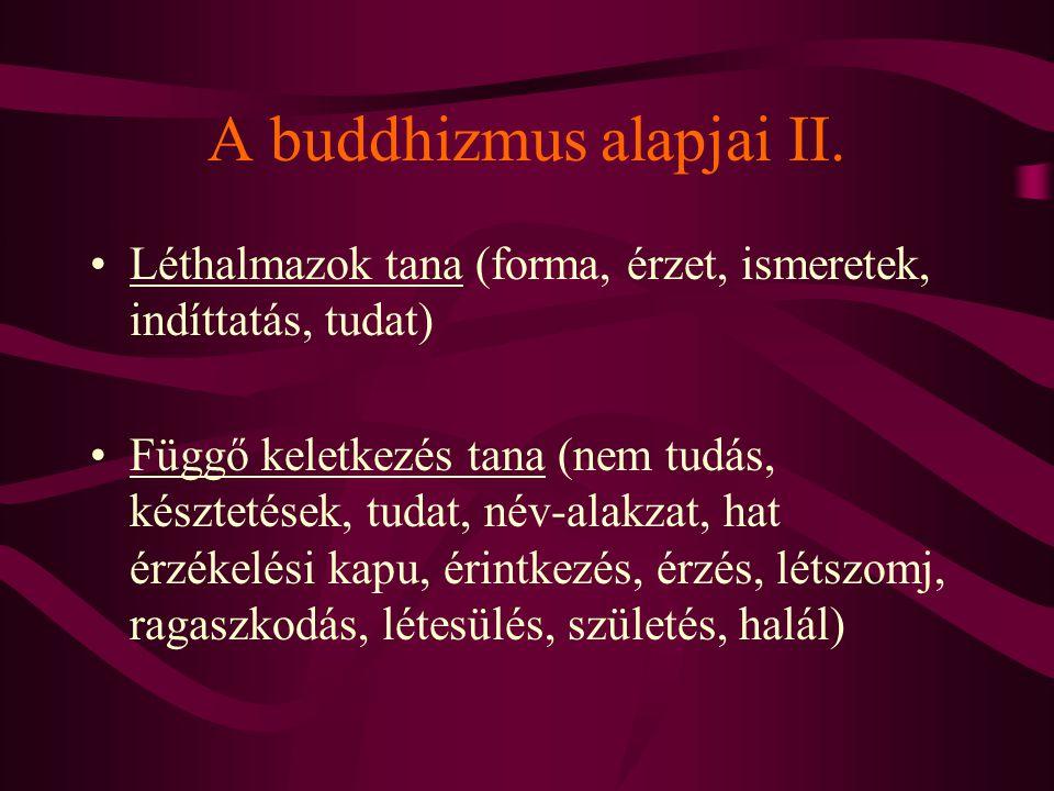 A buddhizmus alapjai II.
