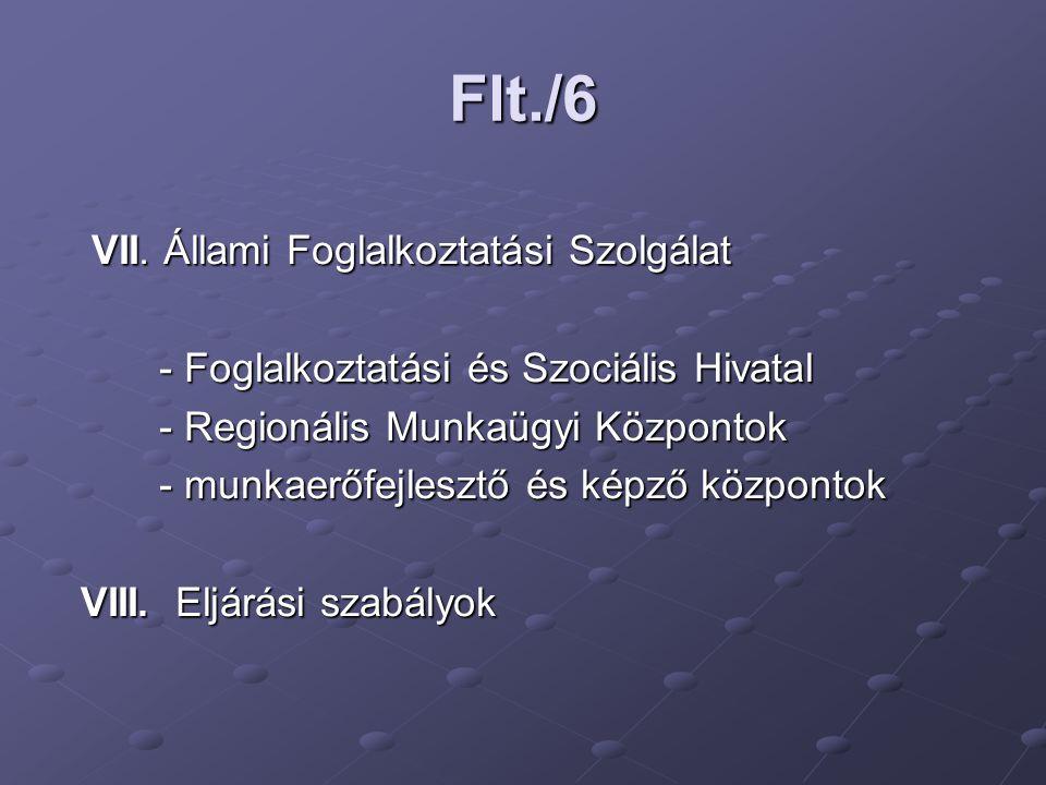 Flt./6 VII. Állami Foglalkoztatási Szolgálat