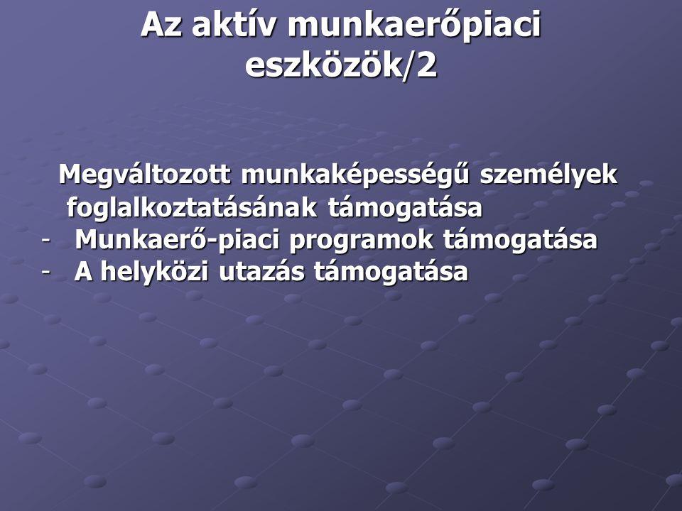 Az aktív munkaerőpiaci eszközök/2