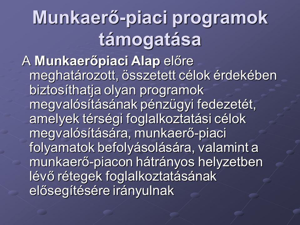 Munkaerő-piaci programok támogatása
