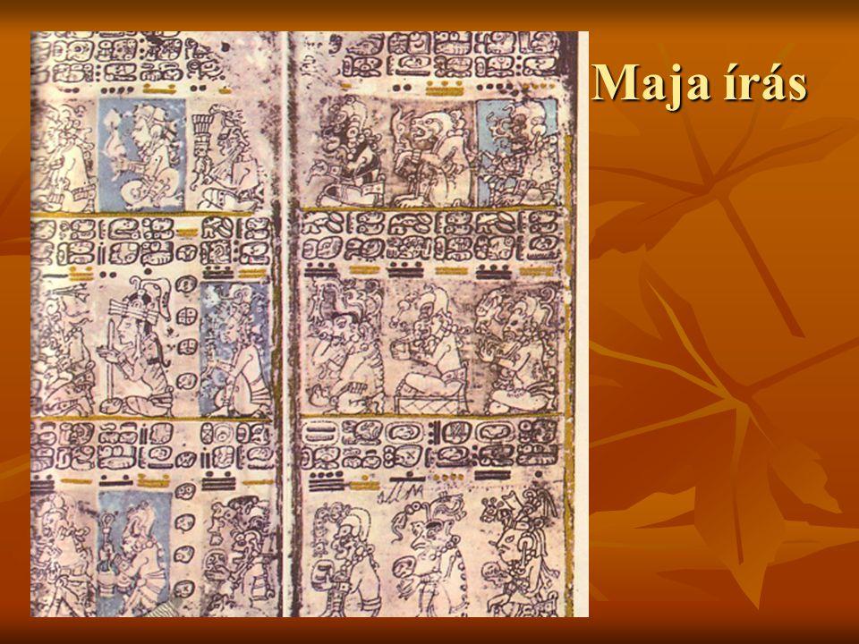 Maja írás Urbán Gabriella 2003. A drezdai maja kódex két lapja.
