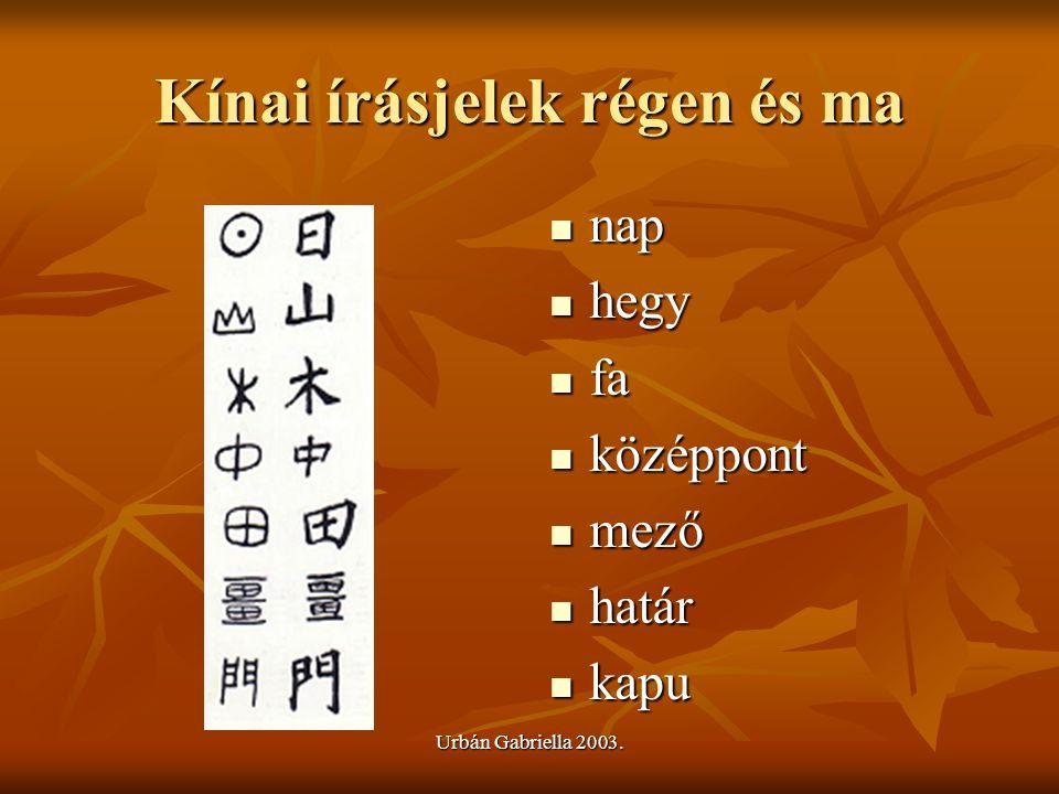 Kínai írásjelek régen és ma