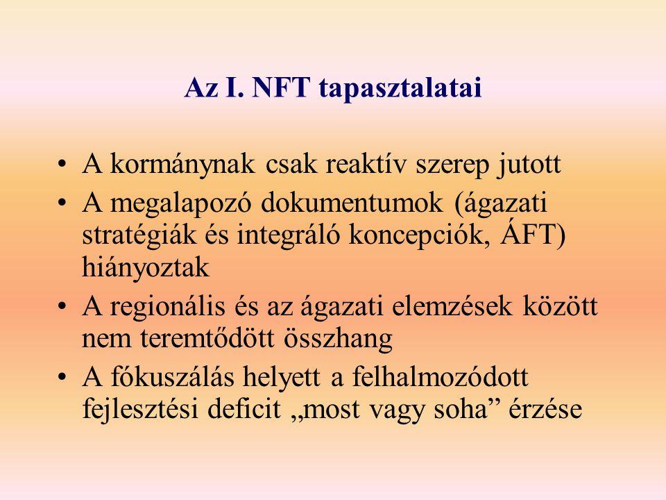 Az I. NFT tapasztalatai A kormánynak csak reaktív szerep jutott.