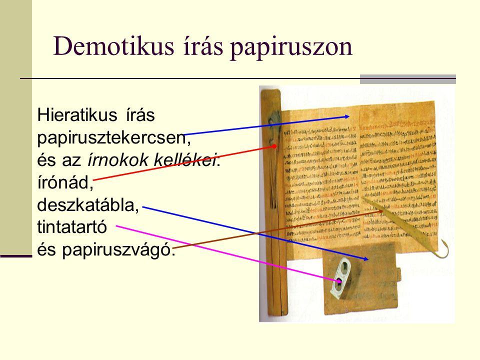 Demotikus írás papiruszon