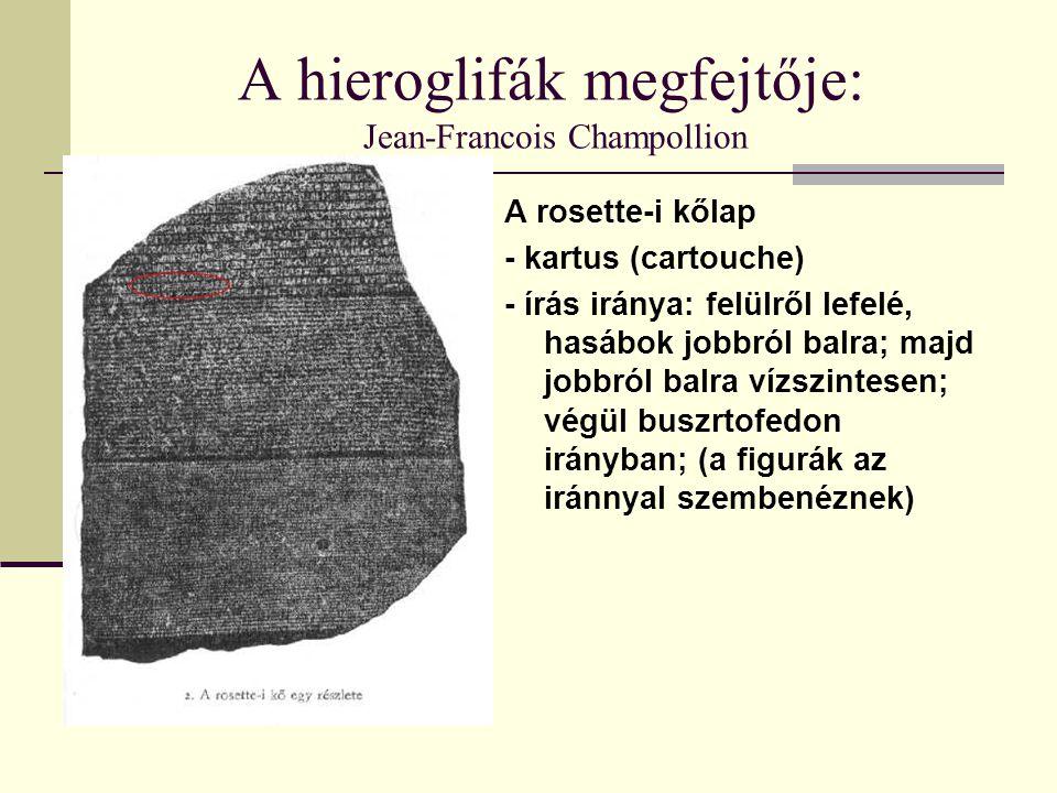 A hieroglifák megfejtője: Jean-Francois Champollion