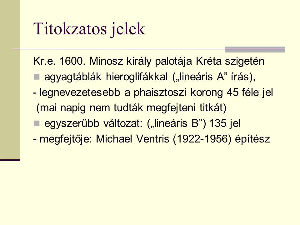 Titokzatos jelek Kr.e. 1600. Minosz király palotája Kréta szigetén